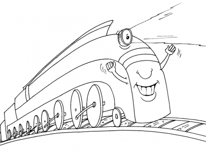 Coloriage Train 23