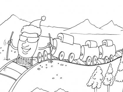 Coloriage Train 24