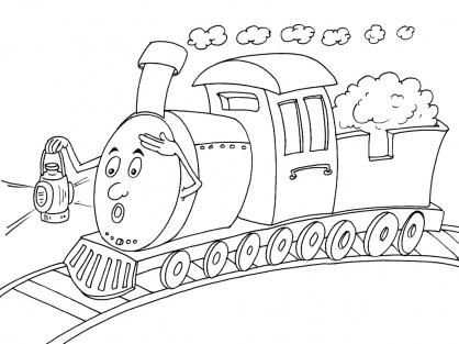 Coloriage Train 26