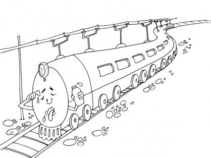 Coloriage Train 27