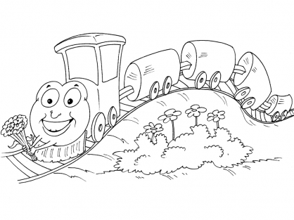 Coloriage Train 28