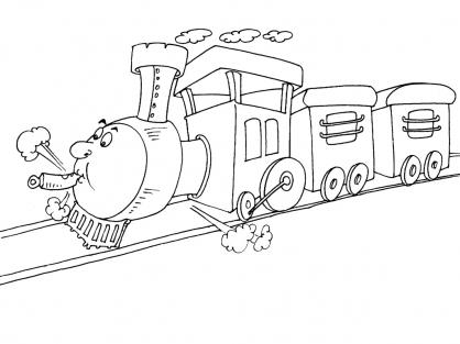 Coloriage Train 29