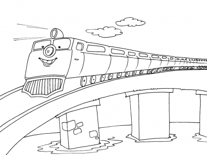 Coloriage Train 30