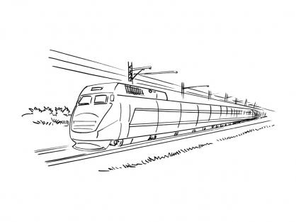 Coloriage Train 4