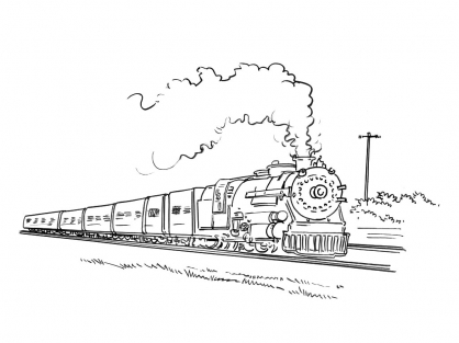 Coloriage Train 6