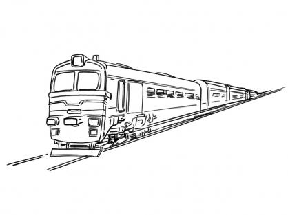 Coloriage Train 7