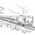 Coloriage Train 8