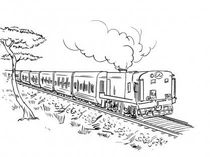 Coloriage Train 8