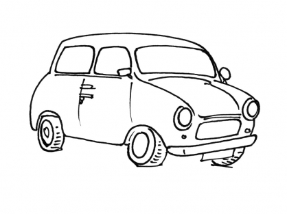 Coloriage Voiture 13
