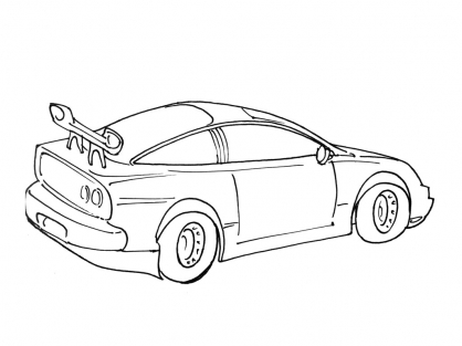 Coloriage Voiture 14