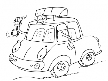 Coloriage Voiture 28
