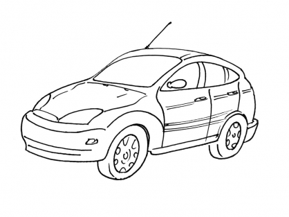Coloriage Voiture 3