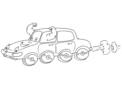 Coloriage Voiture 30