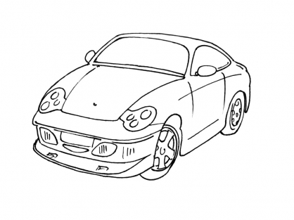 Coloriage Voiture 4