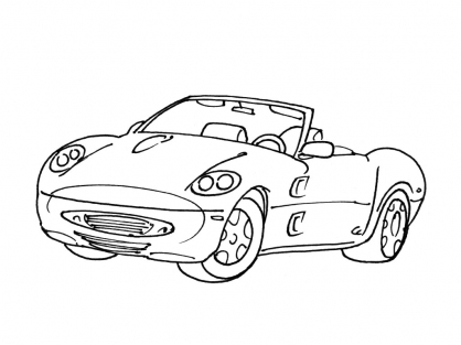 Coloriage Voiture 5