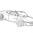 Coloriage Voiture 8