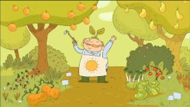 Valentin et les fruits et légumes