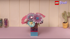 bouquet de fleurs lego friends