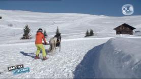 ski Joëring dans ma télécabine