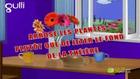 Arrose les plantes avec ton fond de thé