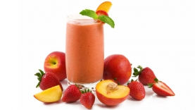 Smoothie fraise pêche