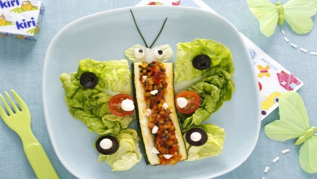Courgettes farcies légumes et Kiri ® : le papillon Kiri ®