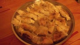 Brick de foie gras aux poires