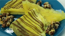 Crêpes au jus d'orange et sa Pâte à Tartiner  «maison»