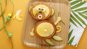 Gâteau à la mangue Kiri ® : le singe Kiri ®