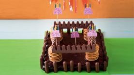 Gâteau d'anniversaire du chevalier