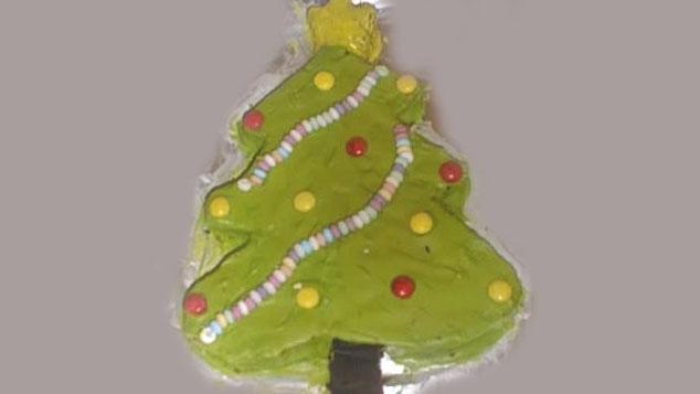 Le gâteau Sapin de Noël