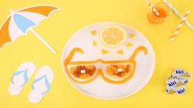 Lunettes de soleil au clafoutis abricots-Kiri ®