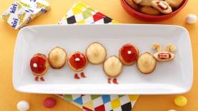 Madeleines Kiri ® à la fraise : la chenille Kiri ®