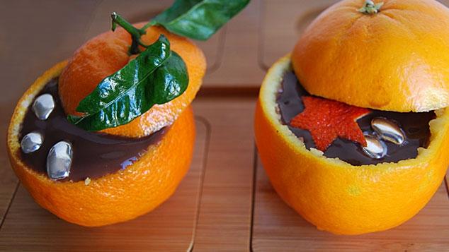 Mandarines au chocolat
