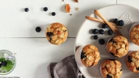 Muffins myrtilles, amandes & pomme de terre