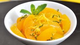 Salade d'abricot menthe citron