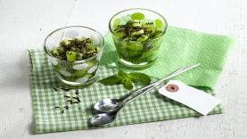 Salade de kiwi menthe-choco
