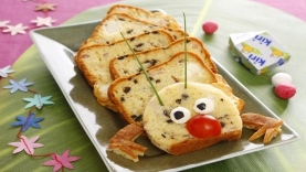 Cake jambon fromage Kiri ® : le 1000 pattes Kiri ®