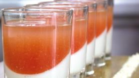 Crème de tomate, gelée de noix de coco