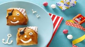 Feuilletés au jambon et fromage Kiri ® : les pirates Kiri ®