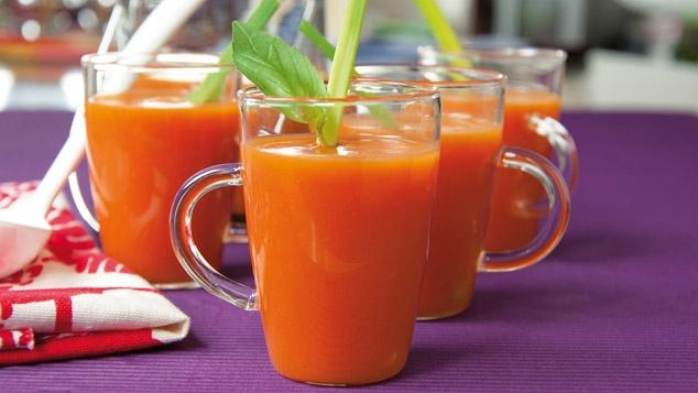 Gaspacho express tomate-basilic