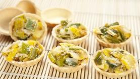 Mini-tartelettes poireau-parmesan
