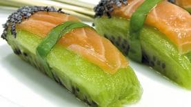 Sushi kiwi-saumon