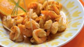 Tapas de crevettes