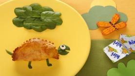 Feuilletés aux épinards et fromage Kiri : la tortue Kiri ®