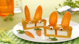 Flans carottes au fromage Kiri ® : les lapins Kiri ®
