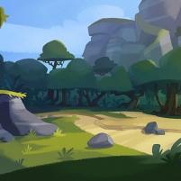 Une clairière de Piggy Island