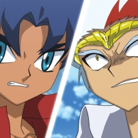 Beyblade Metal Fury, King face à Ryuga