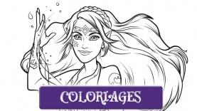 Elves - Coloriages