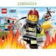Fond d'Ecran Les Pompiers 1280x1024
